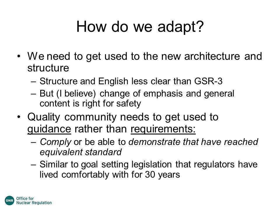 How do we adapt.