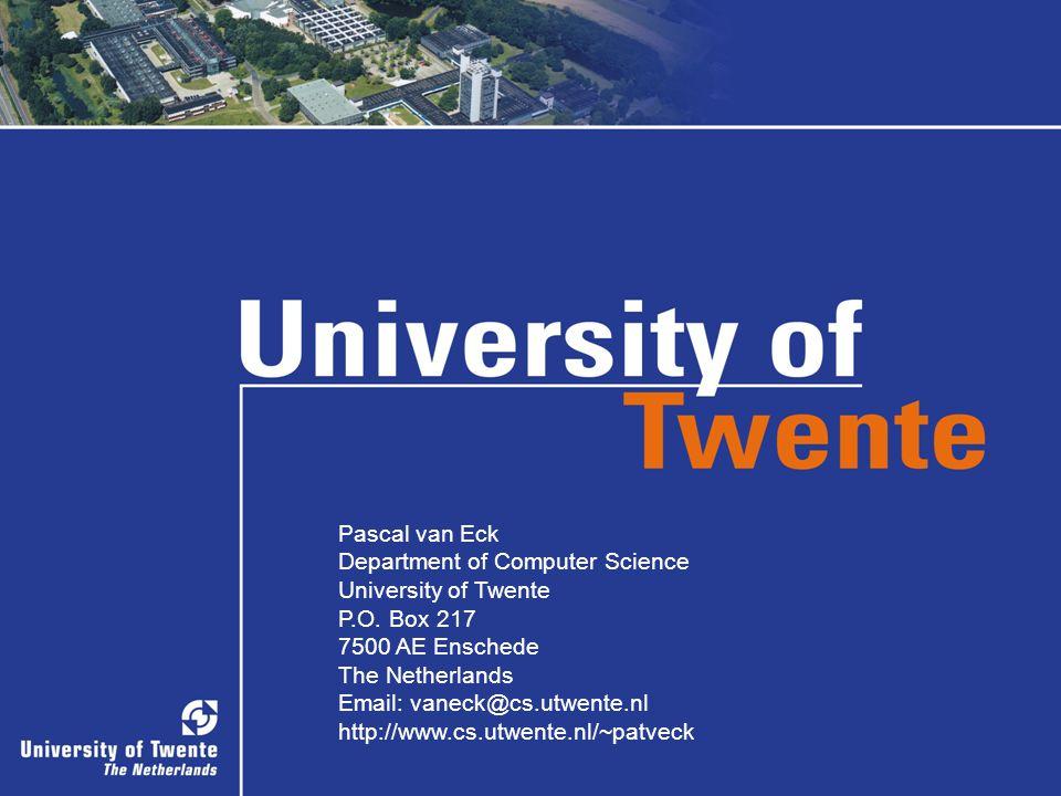 37/36 Pascal van Eck Department of Computer Science University of Twente P.O. Box 217 7500 AE Enschede The Netherlands Email: vaneck@cs.utwente.nl htt