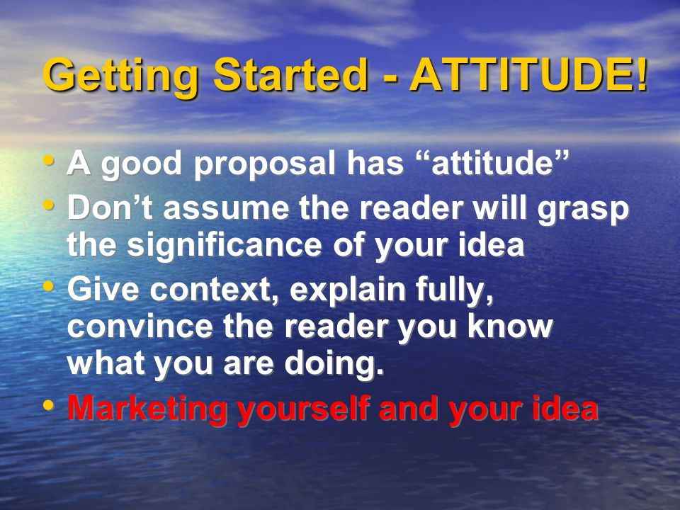 Getting Started - ATTITUDE.