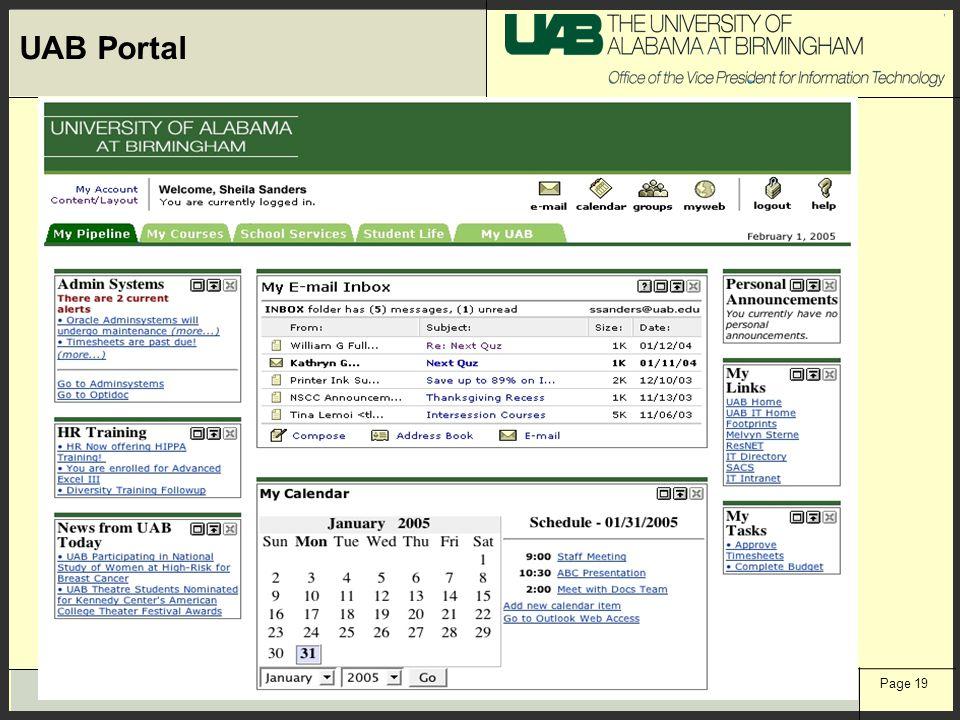 Page 19 UAB Portal