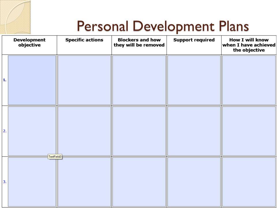 Personal Development Plans