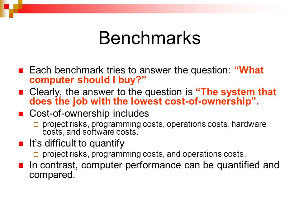 SPEC The Standard Performance Evaluation Corporation (SPEC) is a non-profit corporation formed to establish, maintain and endorse a standardized set of relevant benchmarks that can be applied to the newest generation of high-performance computers.