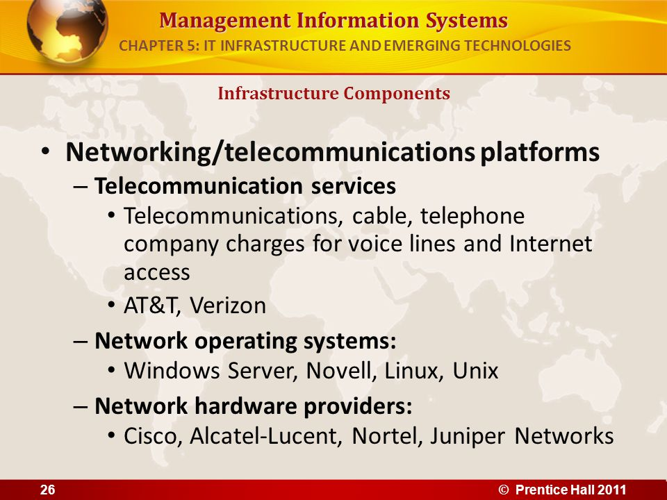 Management Information Systems Networking/telecommunications platforms – Telecommunication services Telecommunications, cable, telephone company charg