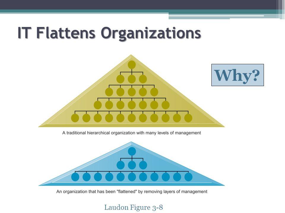 IT Flattens Organizations Laudon Figure 3-8 Why?