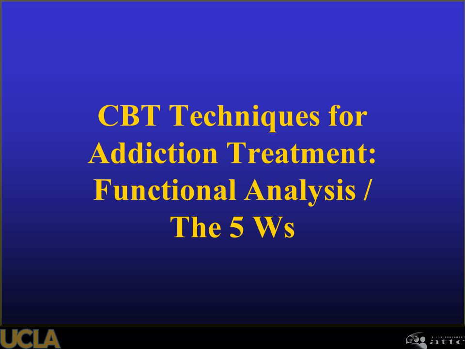 51 CBT Techniques for Addiction Treatment: Functional Analysis / The 5 Ws