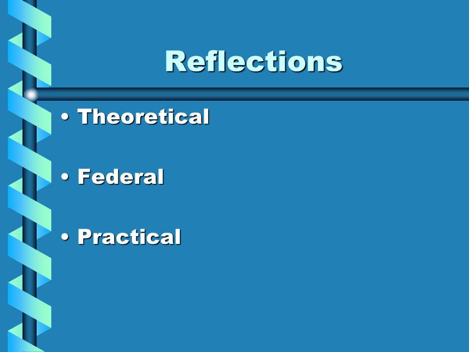 Reflections TheoreticalTheoretical FederalFederal PracticalPractical