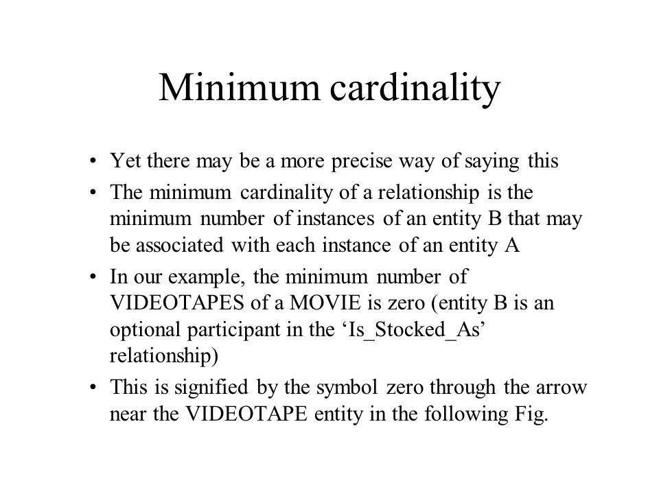 Introducing cardinality constraints (a) Basic relationship