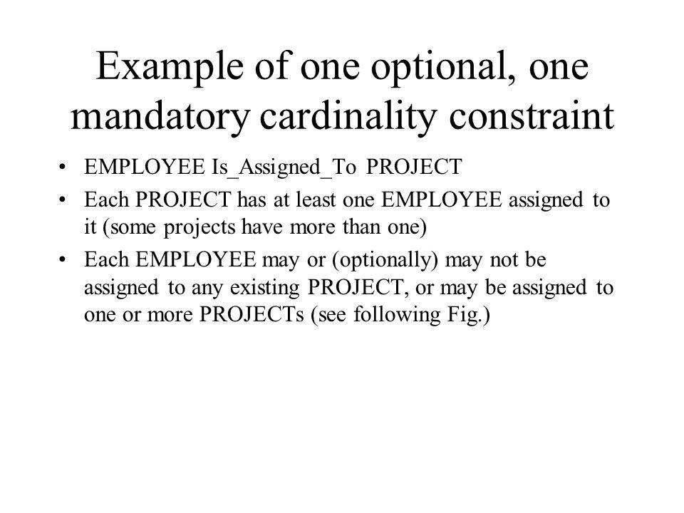 Mandatory cardinalities