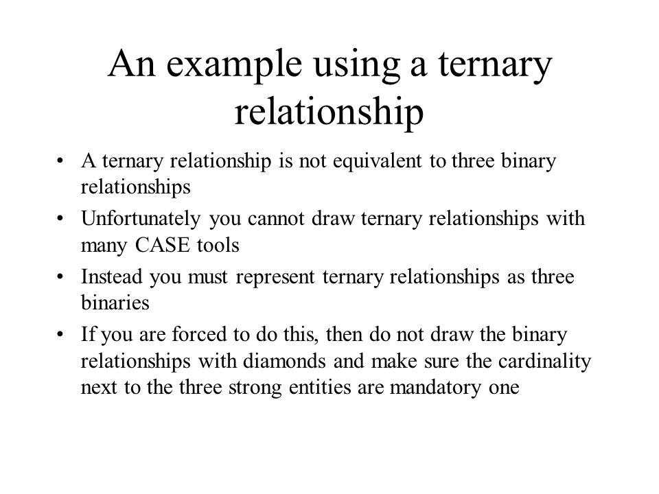 Cardinality constraints in a ternary relationship
