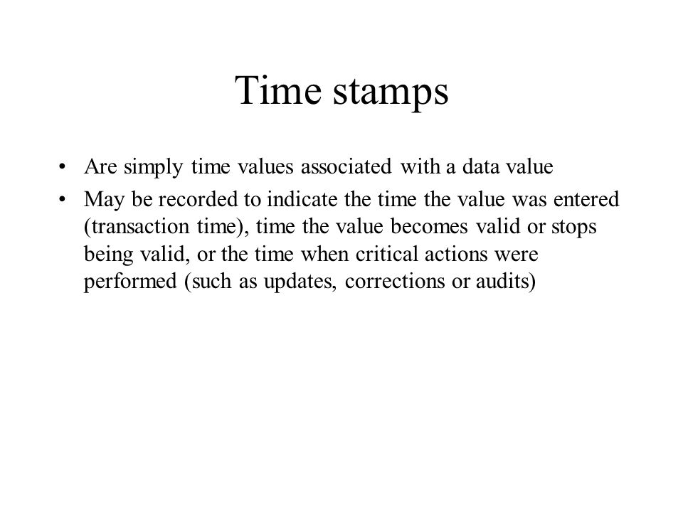 Simple example of time stamping