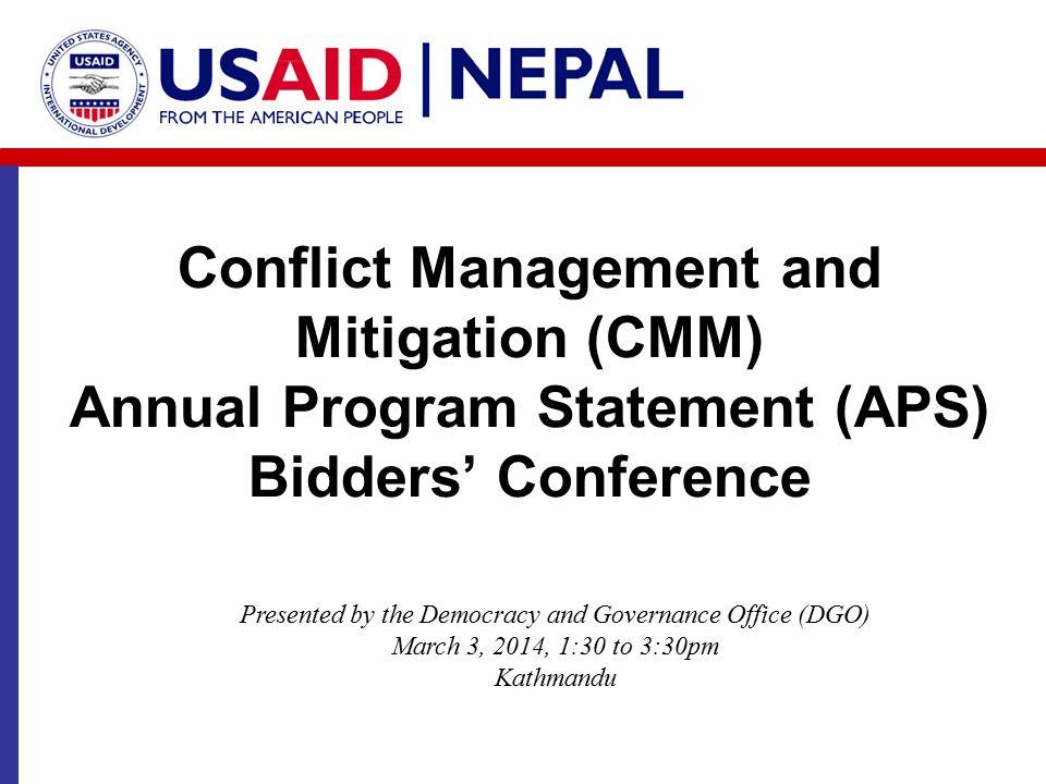 USAID/Nepal DG Strategy