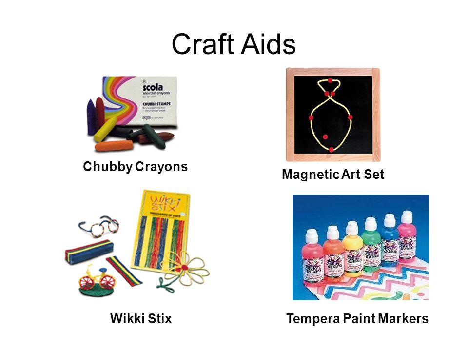 Craft Aids Tempera Paint MarkersWikki Stix Chubby Crayons Magnetic Art Set