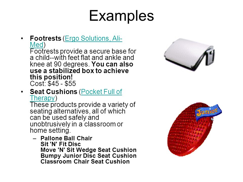 Reading Aids Several aids are helpful supports for literacy activities: –Adjusting the position of books and reading materials to suit an individual student can make the content much more visible or accessible.