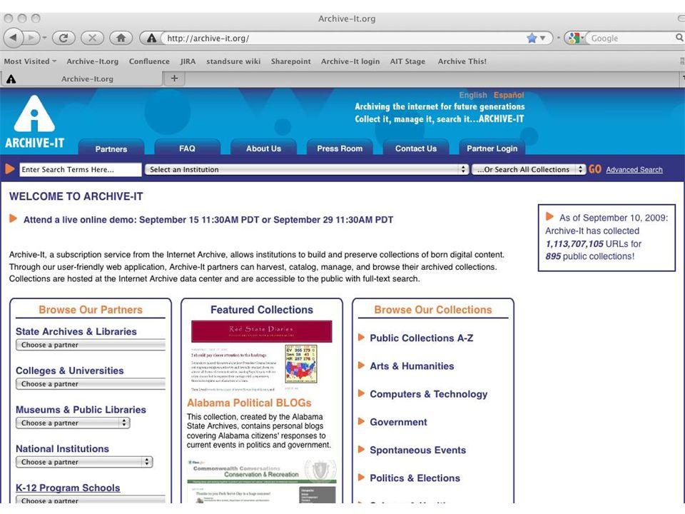 66 Archive-It Web Application