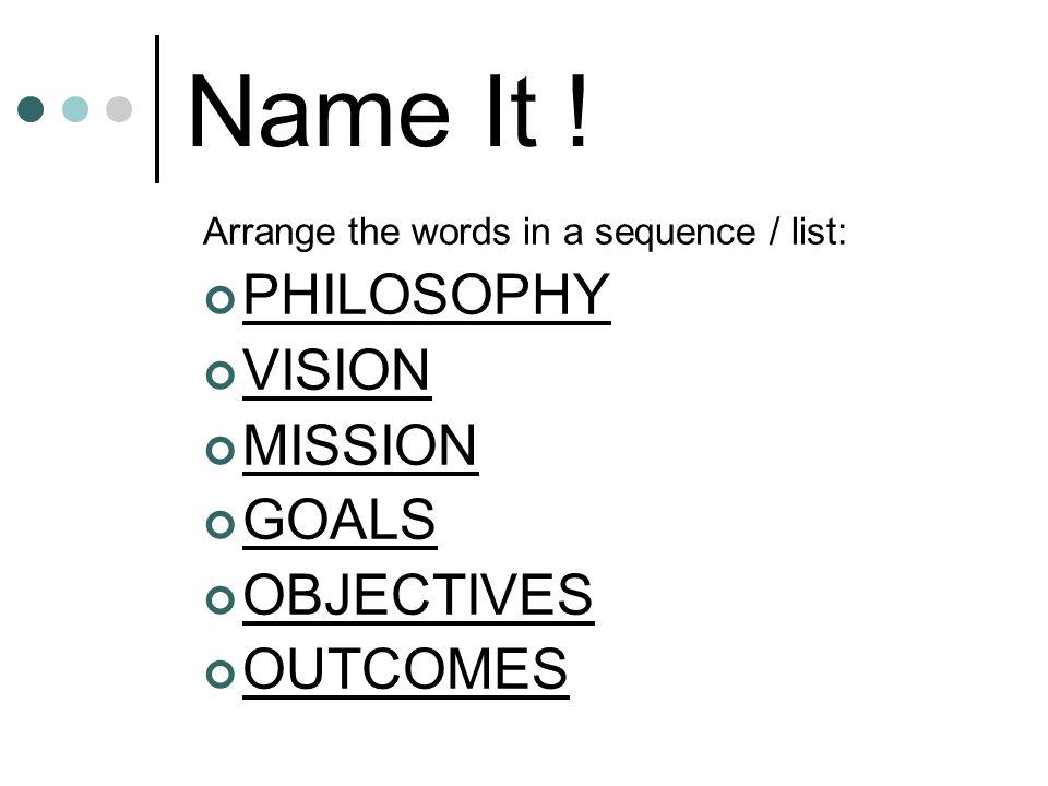 Name It .