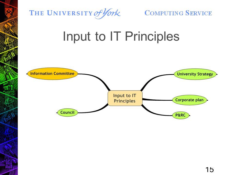 15 Input to IT Principles