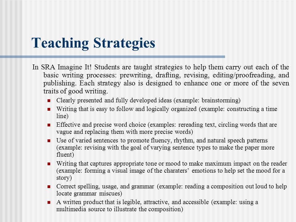 Teaching Strategies In SRA Imagine It.