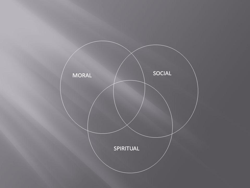 MORAL SOCIAL SPIRITUAL