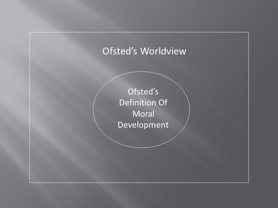 Ofsted's Definition Of Moral Development Ofsted's Worldview