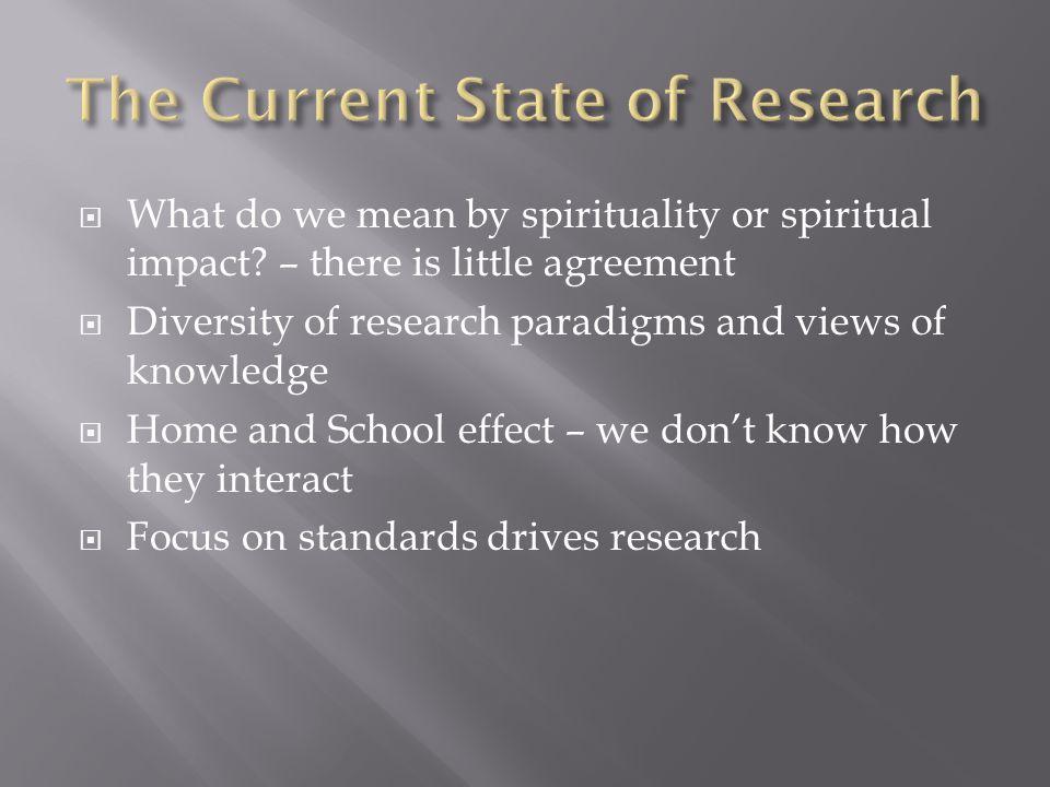  What do we mean by spirituality or spiritual impact.