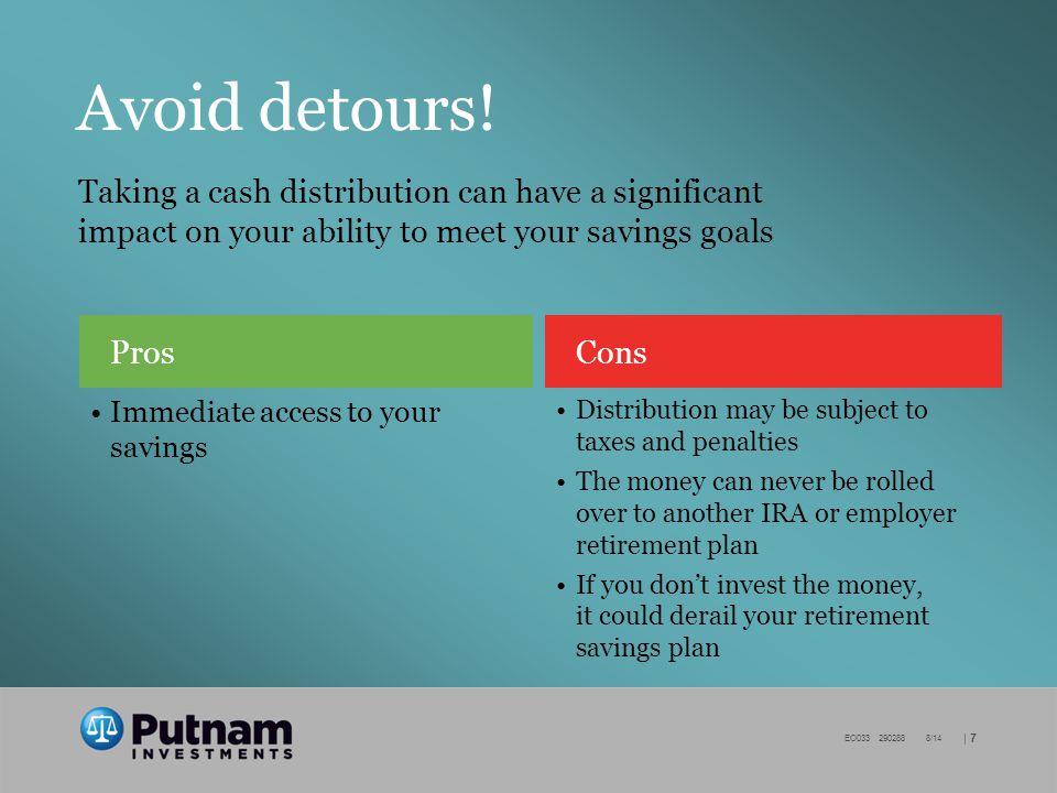| 7 EO033 290288 8/14 Avoid detours.