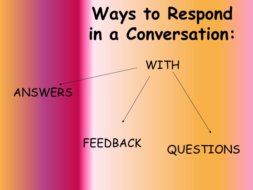 How To Give Feedback: Comment on the conversation: I was at that party too I didn't know that That's awesome.