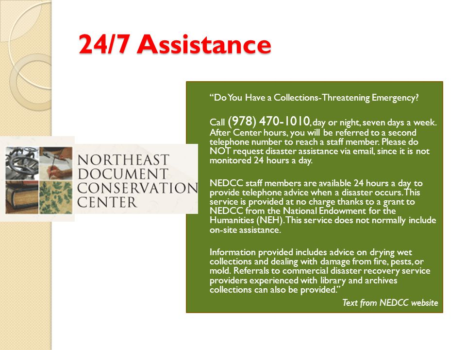 24/7 Assistance Do You Have a Collections-Threatening Emergency.