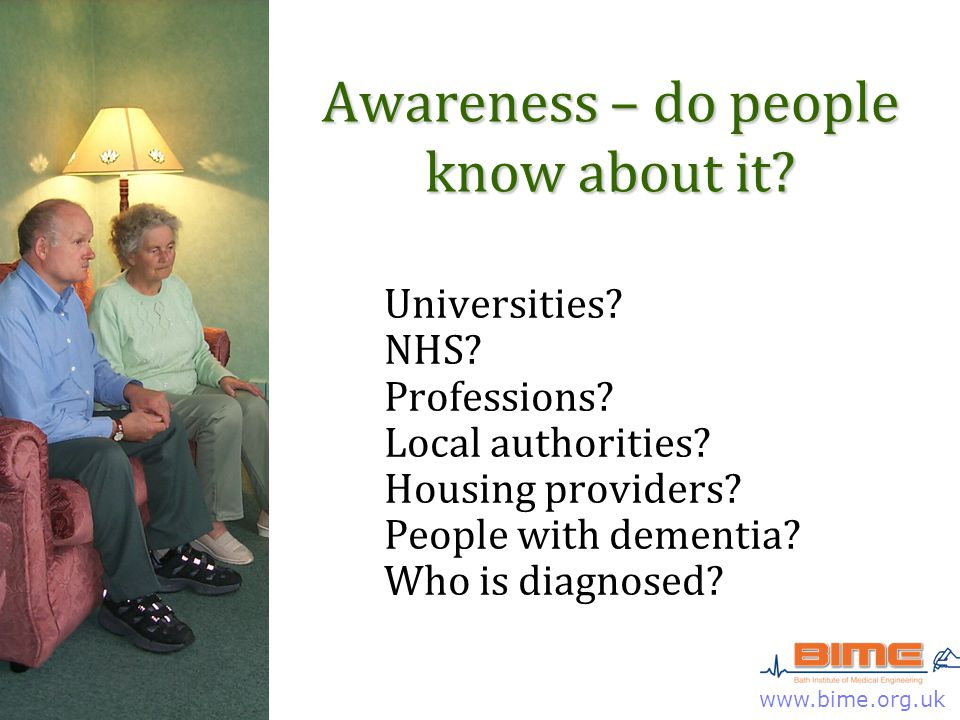 www.bime.org.uk Awareness – do people know about it.