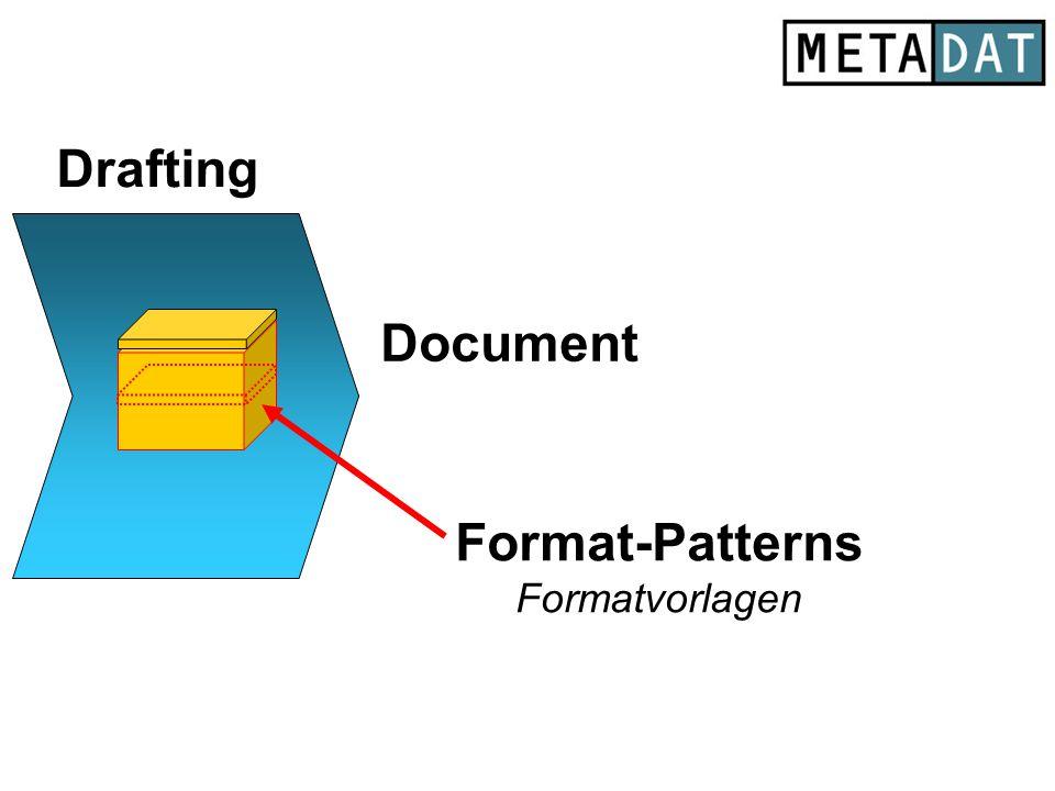 Document x Drafting Format-Patterns Formatvorlagen