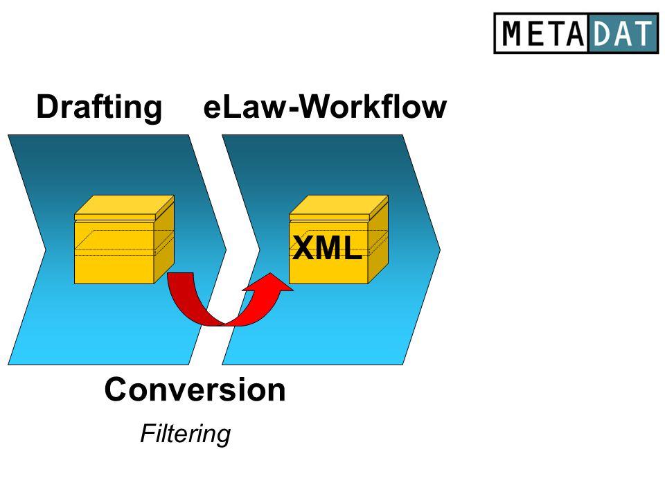 xx eLaw-Workflow Conversion XML Filtering