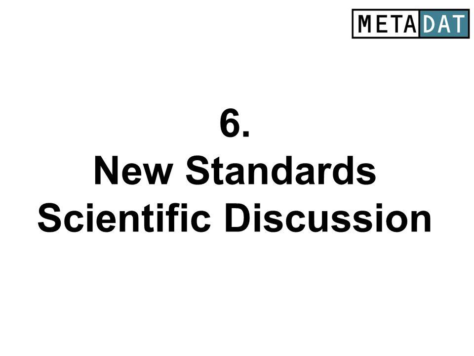 6. New Standards Scientific Discussion