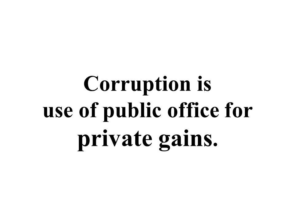 Corruption = Discretion + Mystification - Accountability