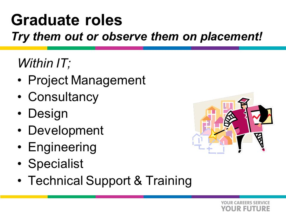 Graduate roles Try them out or observe them on placement.