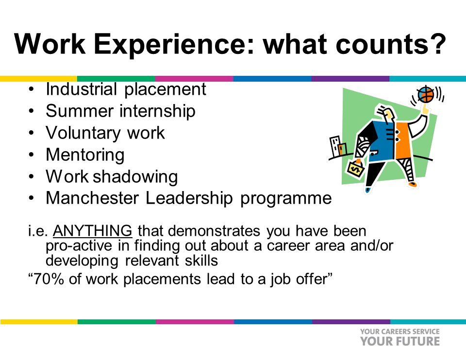 Work Experience: what counts.