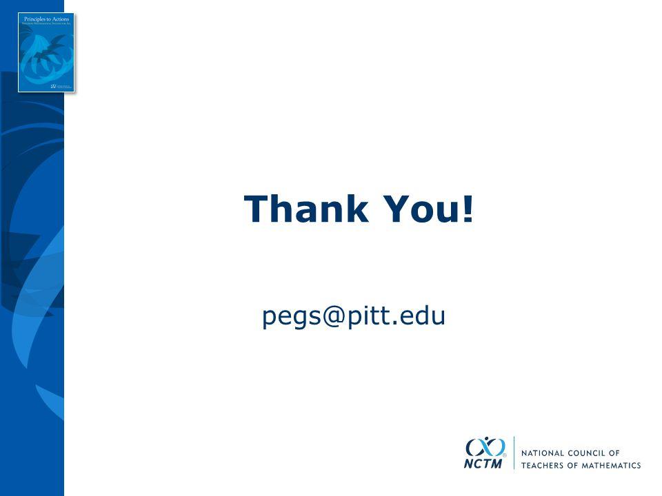 Thank You! pegs@pitt.edu
