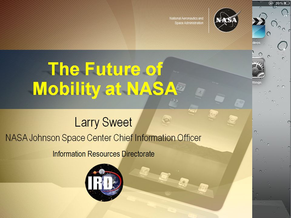 National Aeronautics and Space Administration NASA Mobility