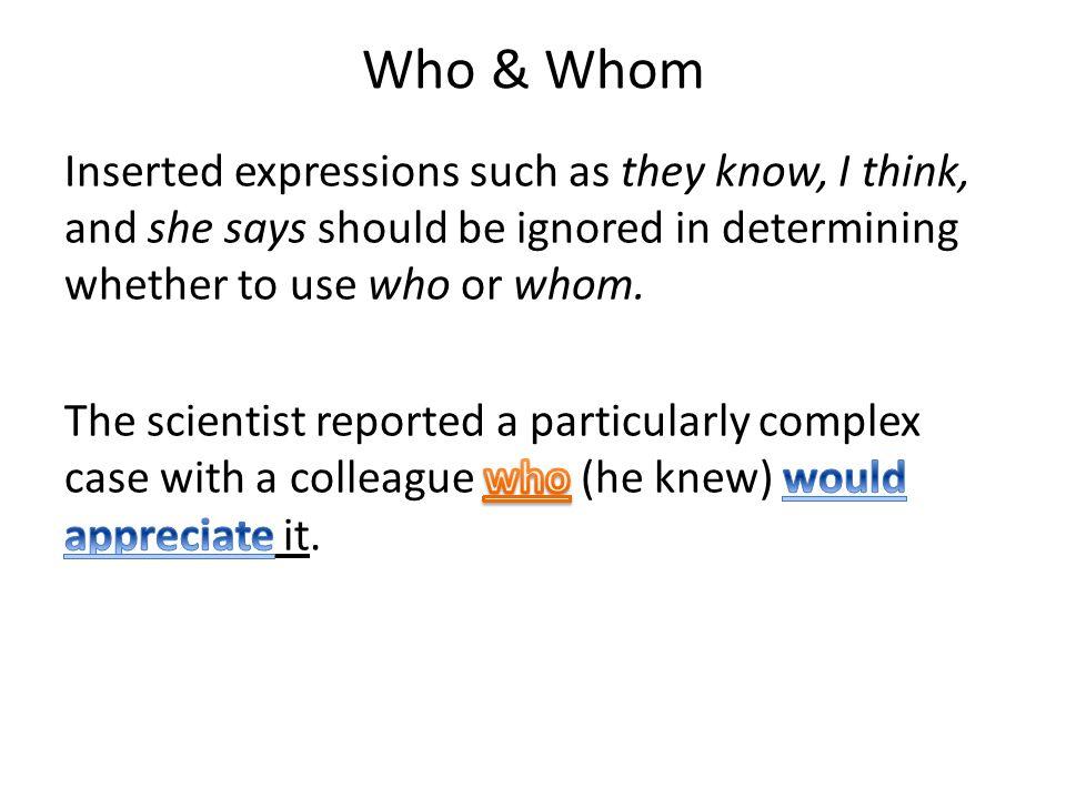 Who & Whom