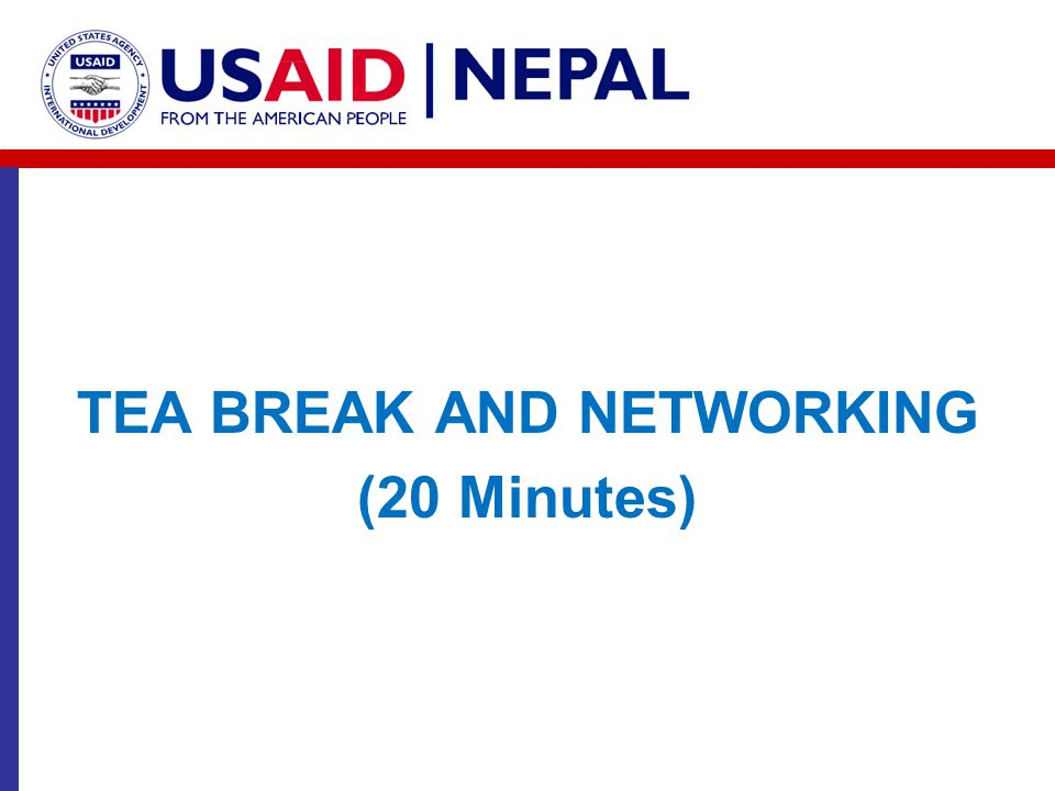 TEA BREAK AND NETWORKING (20 Minutes)