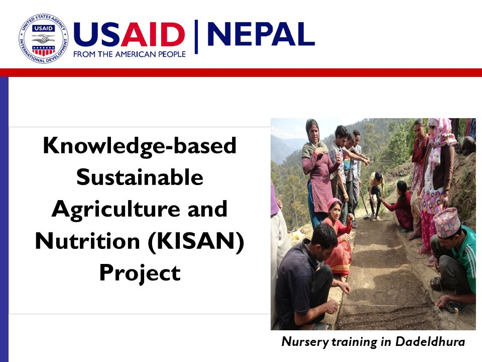 Knowledge-based Sustainable Agriculture and Nutrition (KISAN) Project Nursery training in Dadeldhura