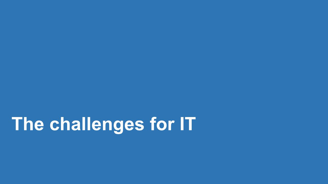 The challenges for IT