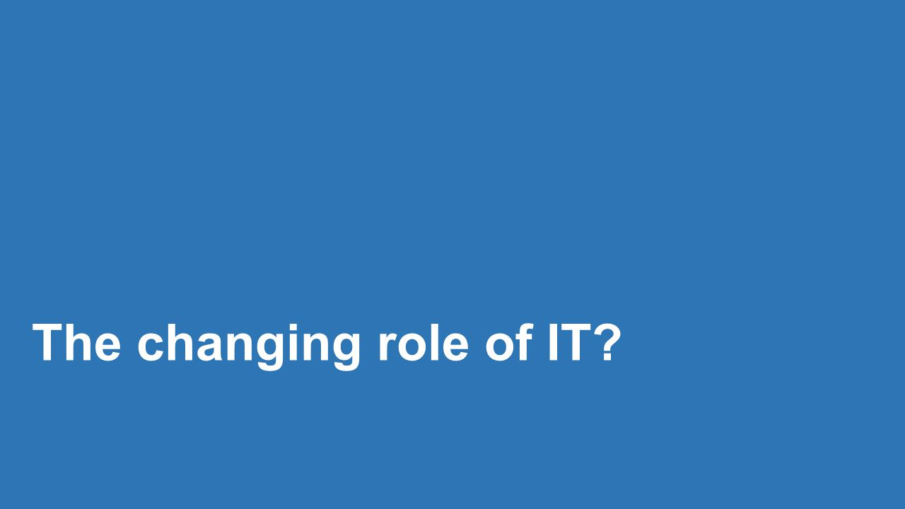 The changing role of IT
