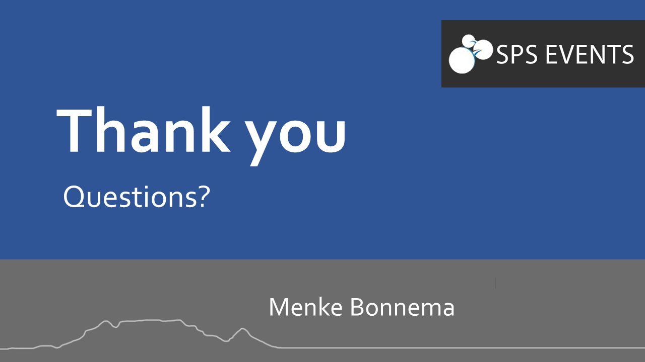 Thank you Questions Menke Bonnema