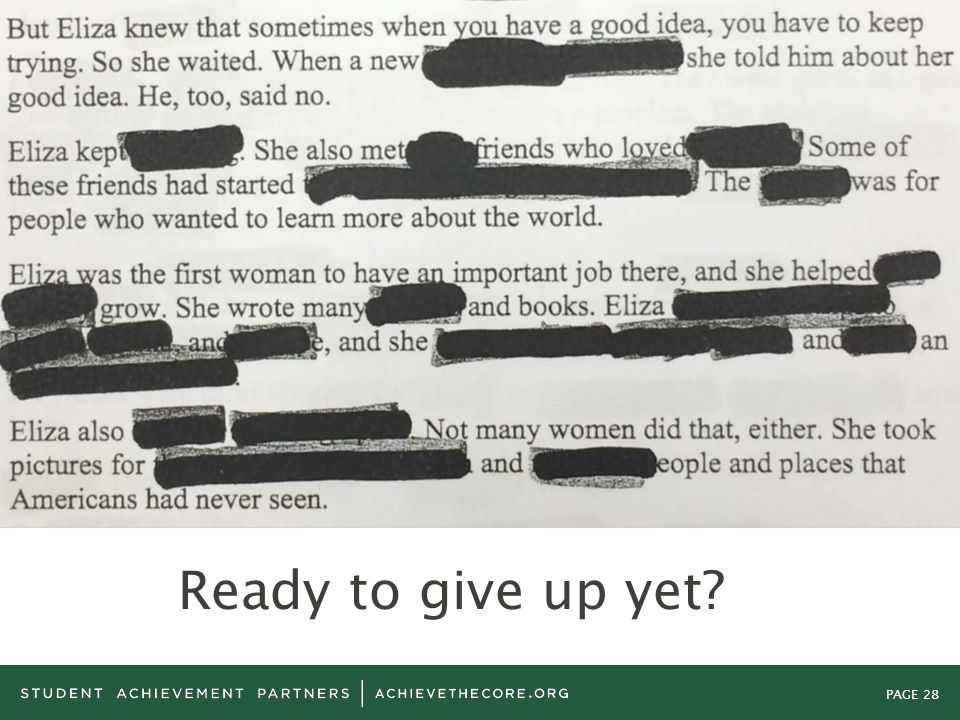 PAGE 28 Ready to give up yet?