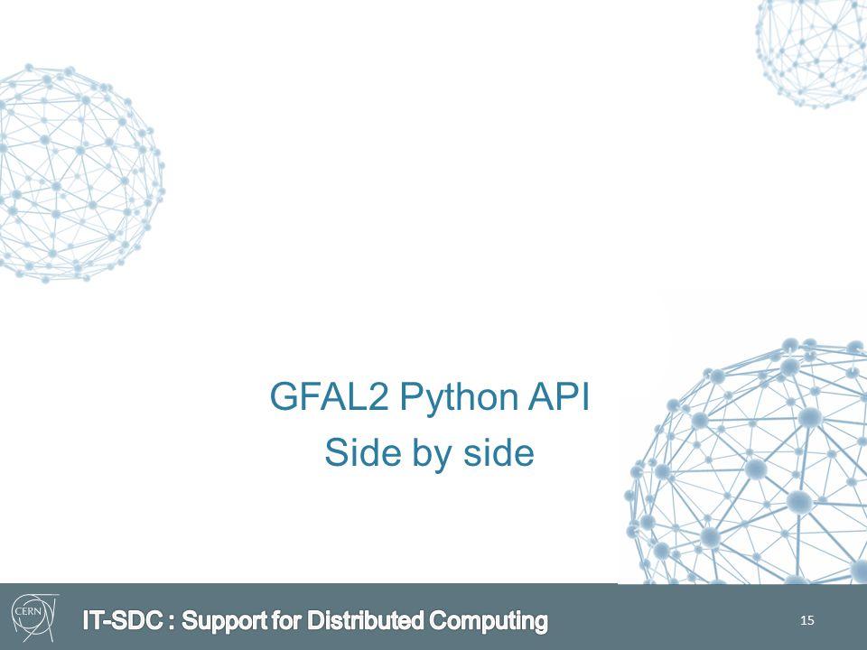 15 GFAL2 Python API Side by side