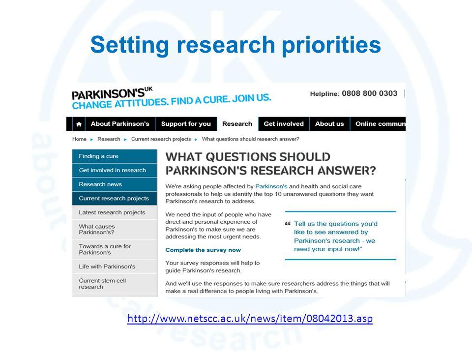 Setting research priorities http://www.netscc.ac.uk/news/item/08042013.asp