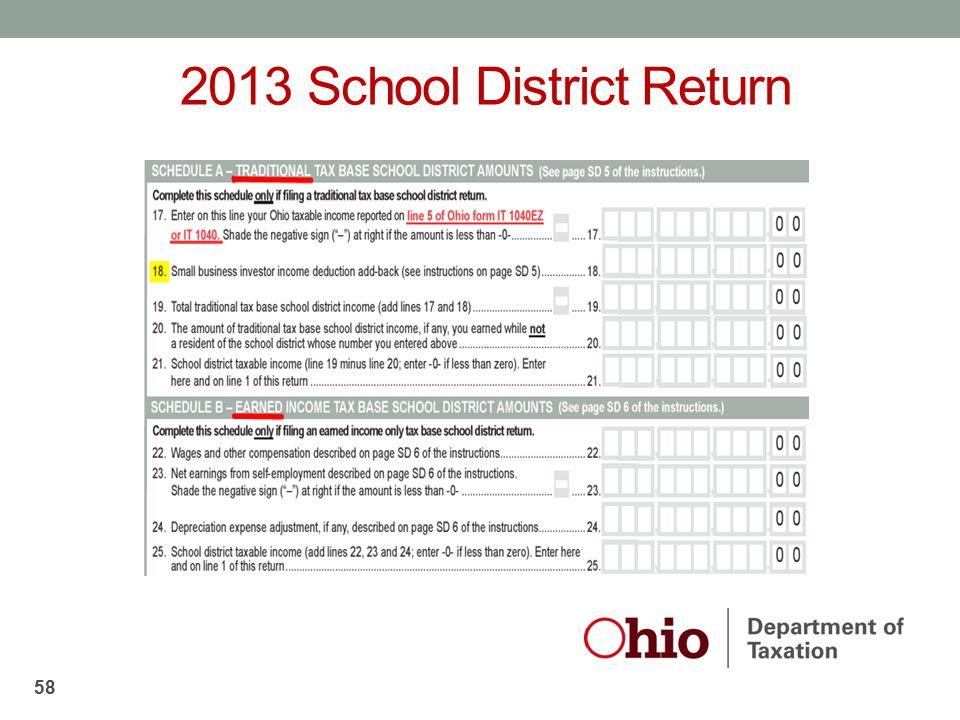 2013 School District Return 58