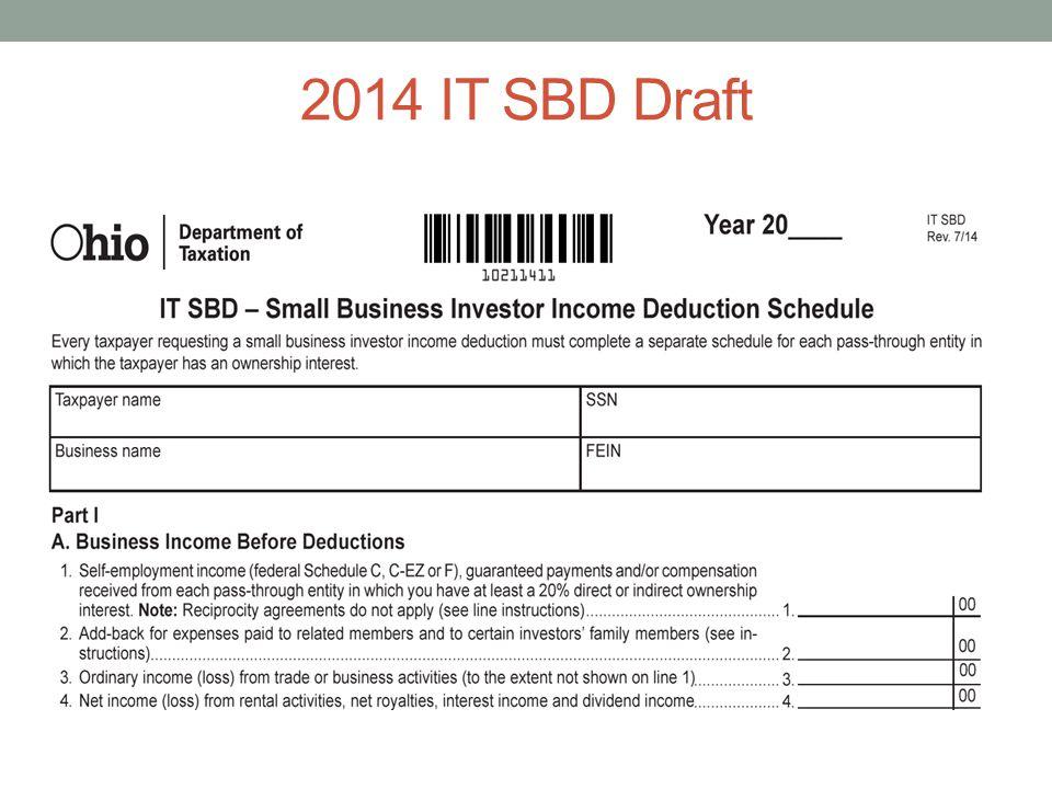 2014 IT SBD Draft