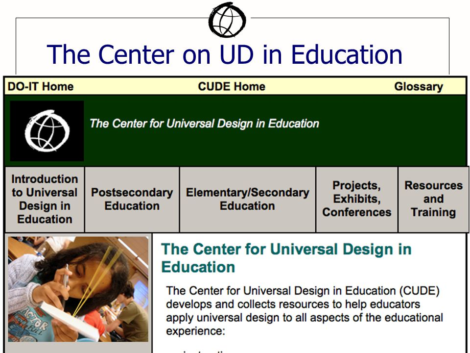 The Center on UD in Education