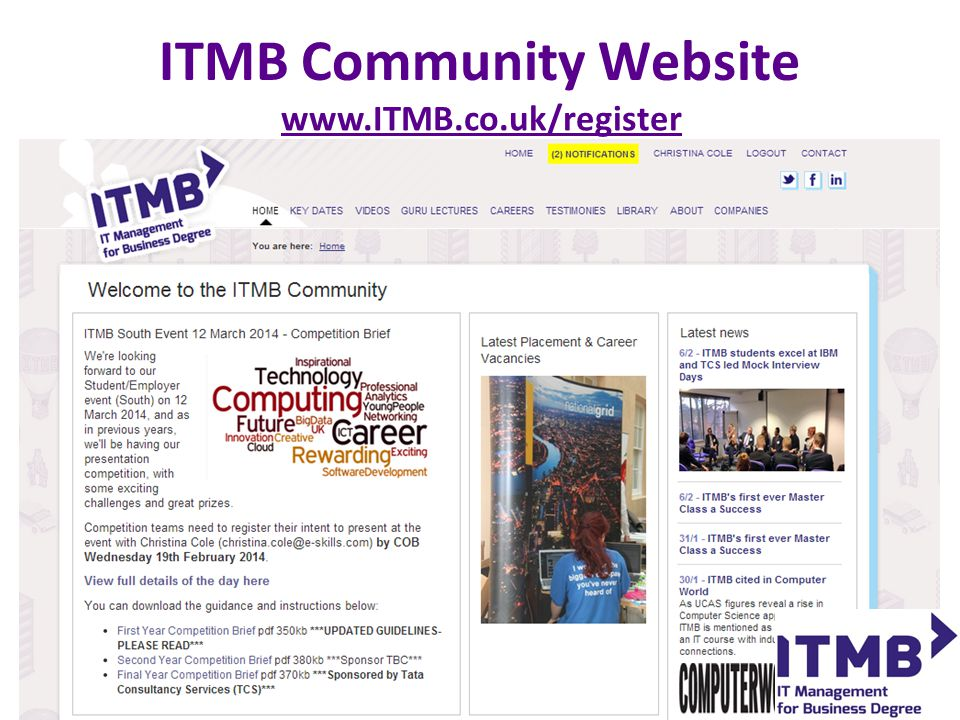 www.ITMB.co.uk/register ITMB Community Website