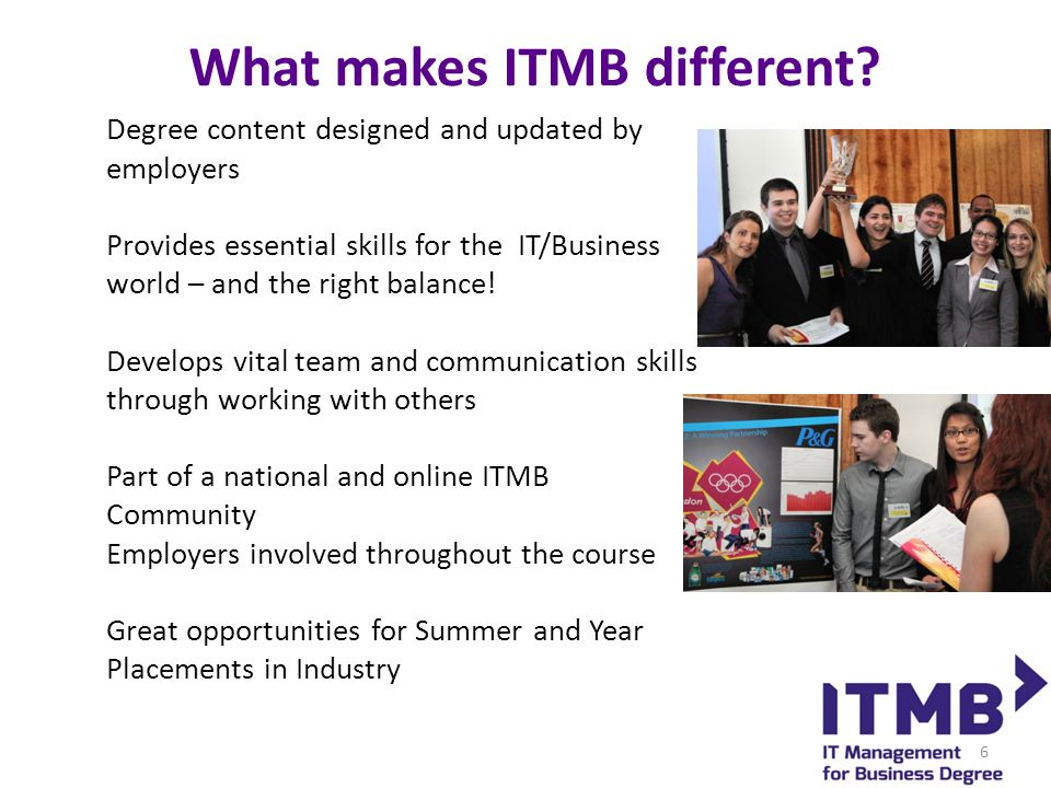 What makes ITMB different.